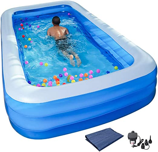 YIRUN Piscina Familiar Rectangular Verano De BañEra Hinchable Anti ...
