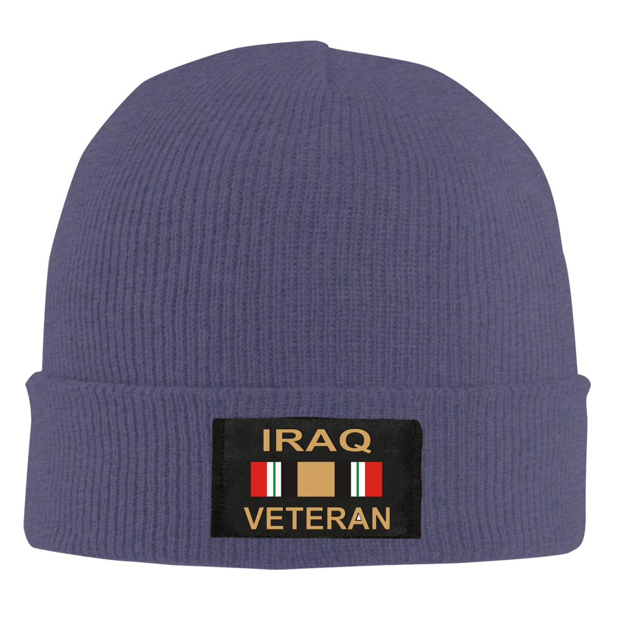 Iraq Veteran Unisex Warm Winter Hat Knit Beanie Skull Cap Cuff Beanie Hat Winter Hats