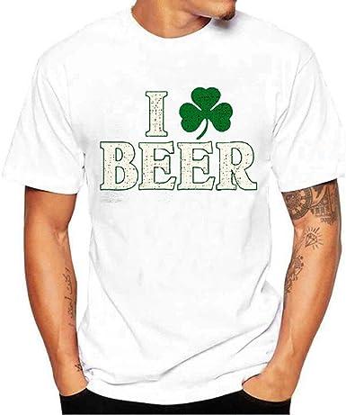 Shamrock Beer Heartbeet Long Sleeve T-Shirt St Patrick/'s Day Irish Drinking Tee