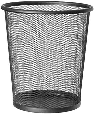 27 x 24 cm EUROXANTY cestino per la carta Pattumiera nera circolare Pack 2 unit/à 10 L Griglia metallica Cestino carta ufficio In rete