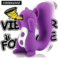 Vibrator Klitoris-Sauger G-Punkt Vibratoren für Sie mit Klitoris Stimulation Wasserdicht Silikon Sexspielzeug für Frauen 10 Vibrationsmodi