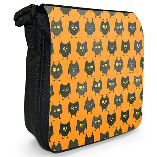 Small Eye Wallpaper Canvas Owls Cute Shoulder Bag Drowsy Black Big Owl Looking Size TIApdwxx