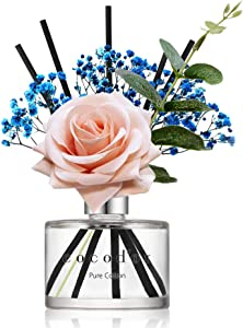 Cocod'or Rose Flower Reed Diffuser/Pure Cotton / 6.7oz(200ml) / 1 Pack/Reed Diffuser Set, Oil Diffuser & Reed Diffuser Sticks, Home Decor & Office