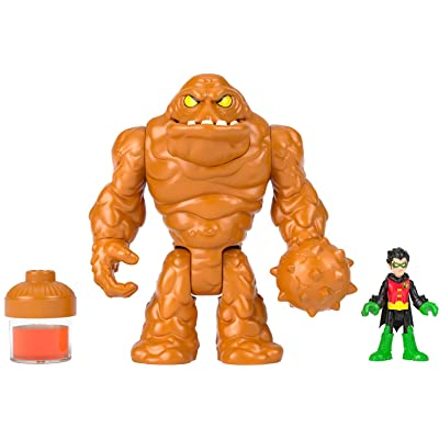 Imaginext Fisher-Price DC Super Friends Oozing Clayface & Robin, Multicolor: Toys & Games