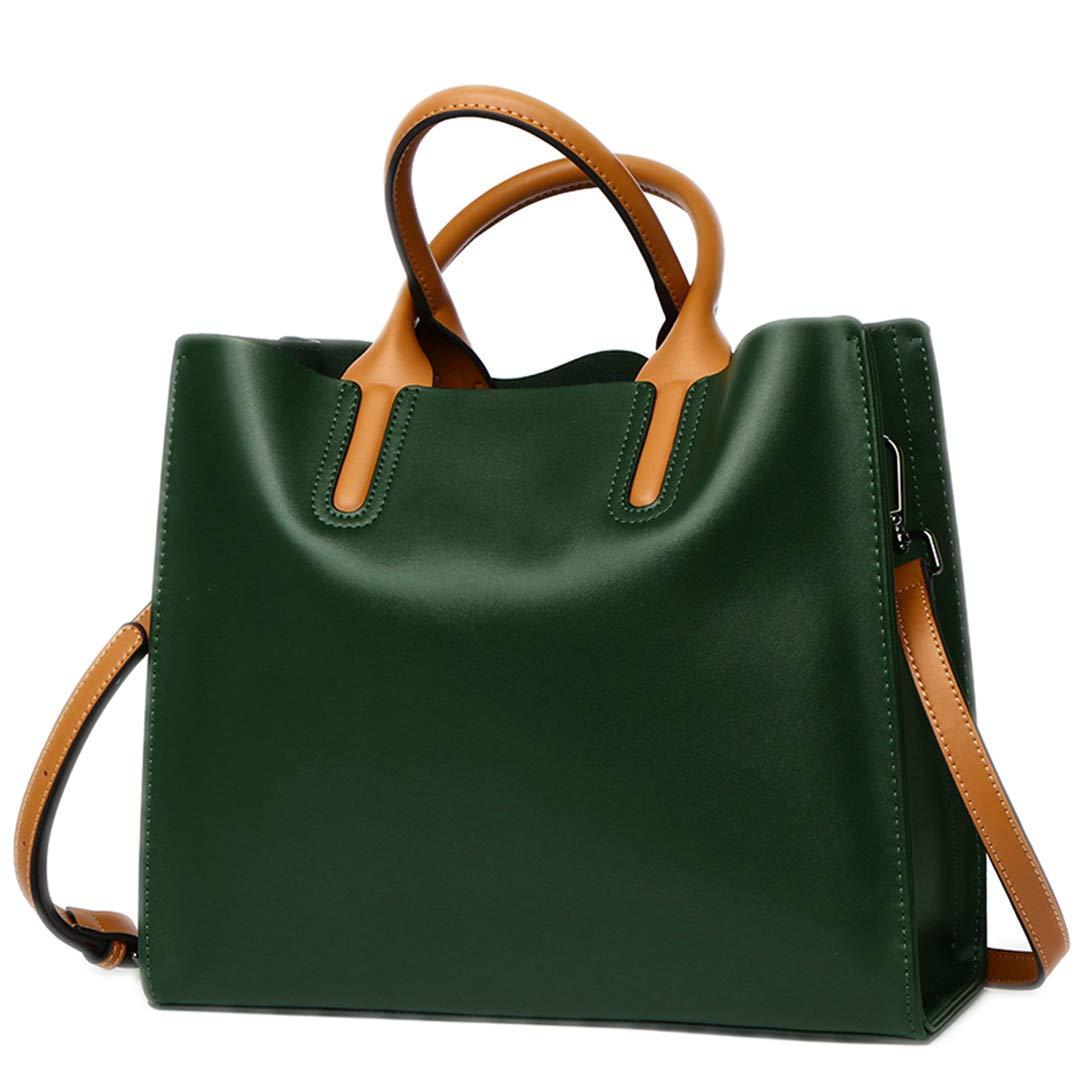 Echtes Leder Tasche Frauen Messenger Bags Frauen Tasche Schultertasche Tote Beige Side-schwarz B07PMKR1KY Umhngetaschen