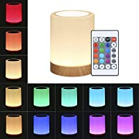 Miaoqian Luz de cabeceira de controle de toque com controle remoto de 13 cores e 3 modos de iluminação Função do…