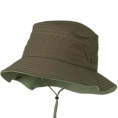1fc09b8ef81c0 UV 50+ Sun Protection Talson Bucket Hat - Brown Khaki at Amazon ...