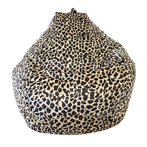 Gold Medal Bean Bags Tear Drop Safari Micro-Fiber Suede Bean Bag, Large, Leopard