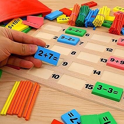 Lvedu Jeu De Domino Puzzle De Calcul Jeu Educatif Pour Enfant De 3 A 7 Ans Garcons Et Filles Amazon Fr Fournitures De Bureau