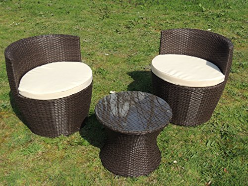3er set gartenm bel rattanoptik anthrazit braun gartensitzgruppe f r balkon braun g nstig. Black Bedroom Furniture Sets. Home Design Ideas