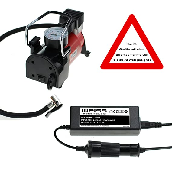 Voltaje Corriente 220 V AC a 12 V/6 A DC con encendedor de cigarrillos hembra para 12 V - Nevera Cajas Rectificador de red Cargador de automóviles Auto ...