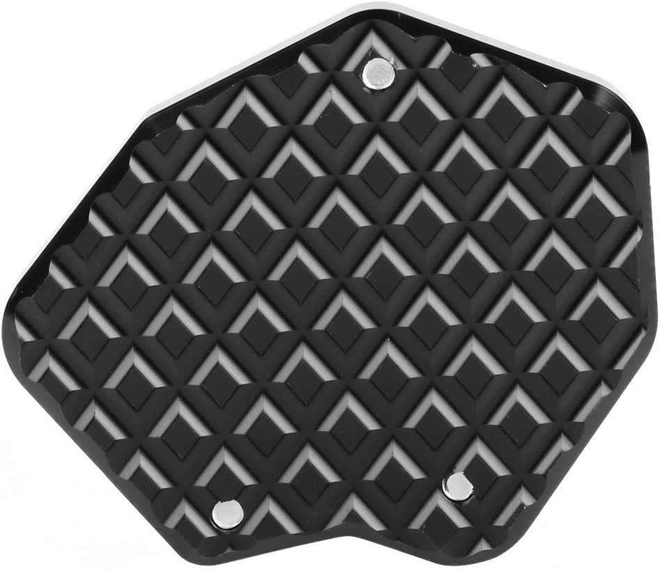 Broco New Motorcycle Side Stand Enlarge Foot Pad Kickstand Extension Plate Pad CNC Aluminum Motorcycle Side Stand Extension Pad Enlarger Fit For Tiger 800 2013-2017