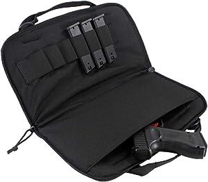 LIVIQILY Tactical Tough EVA Pistol Case Shooting Range Handgun Bag Magazine Pouch for Gun Storing Transporting