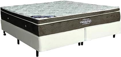 Cama Box+colchão Casal King Size Ortobom Exclusive 186x198x55