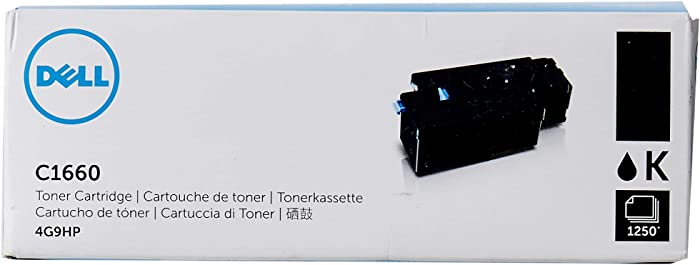 Dell 4G9HP Toner Cartridge C1660w Color Printer,Black