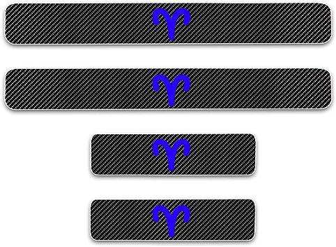 yingpuchuang Carbon Fiber Car Door Sill Protector For Suzuki VITARA Scuff Plate Sticker Anti-Scratch Guard 4Pcs Blue
