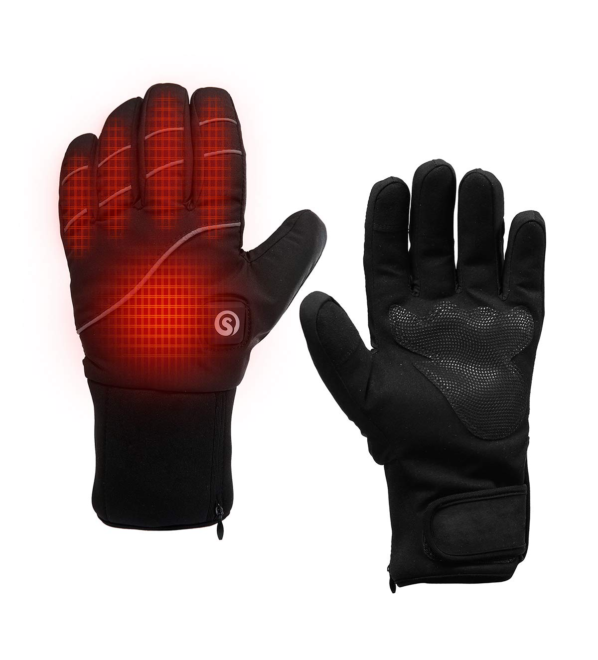 day wolf Heated Gloves Men Women with Rechargeable Battery 7.4V 2200MAH for Winter Sport Motorcyle Biking Cycling Ski Hunting Fishing Snow Heated Mitten Gloves Arthritis Hand Warmer (Black, 3XL) by day wolf