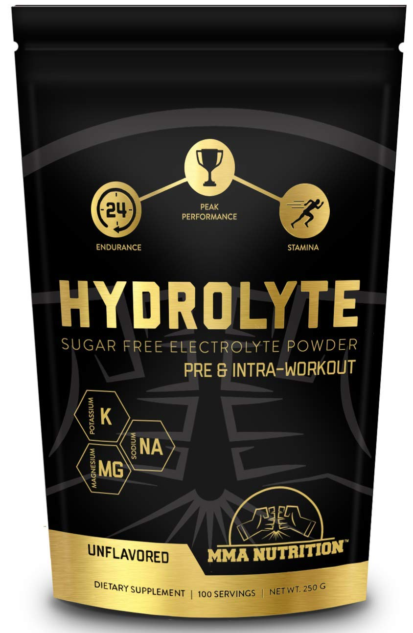 Hydrolyte - 100 Servings Sugar Free Electrolyte Powder with Magnesium, Potassium and Sodium - Boost Endurance and Reduce Fatigue with This Electrolyte Supplement - Maximum Hydration - Keto Friendly by MMA Nutrition