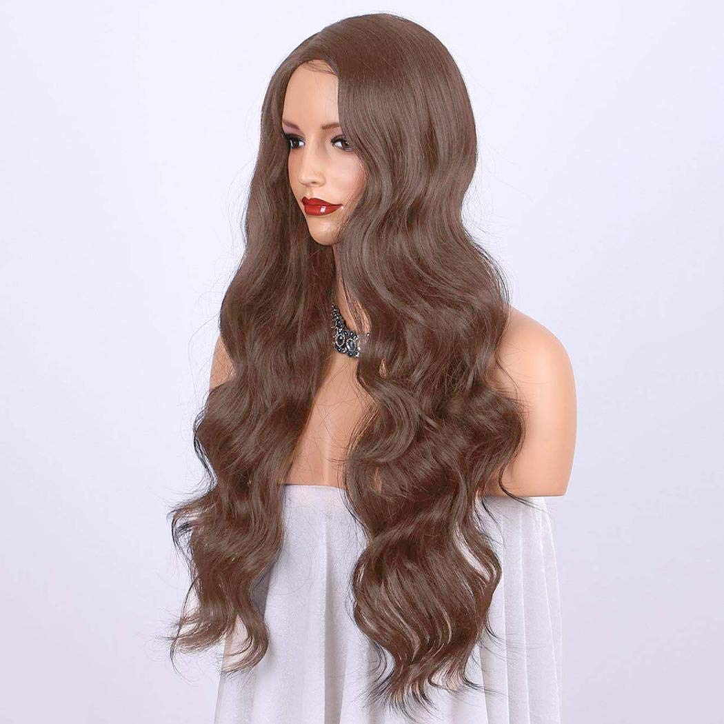 GuGio Women Full Wig Wave Lace Front Wigs Human Hair Body Wave Wigs 25.6 inch Body Wave Human Hair Wigs