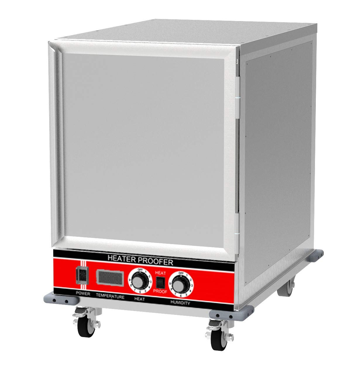 Chef's Exclusive CE806 Insulated Undercounter Heater Proofer Holding Cabinet Solid Door 1500 Watts Commercial Half Size Holds (14) 18in x 26in Sheet Pans Forced Air For Mobile Use, 32.75in Height