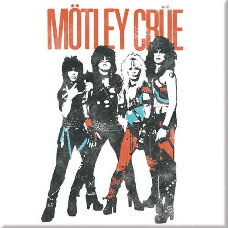 Motley Crue Fridge Magnet Vintage World Tour Band Logo Official Mens White
