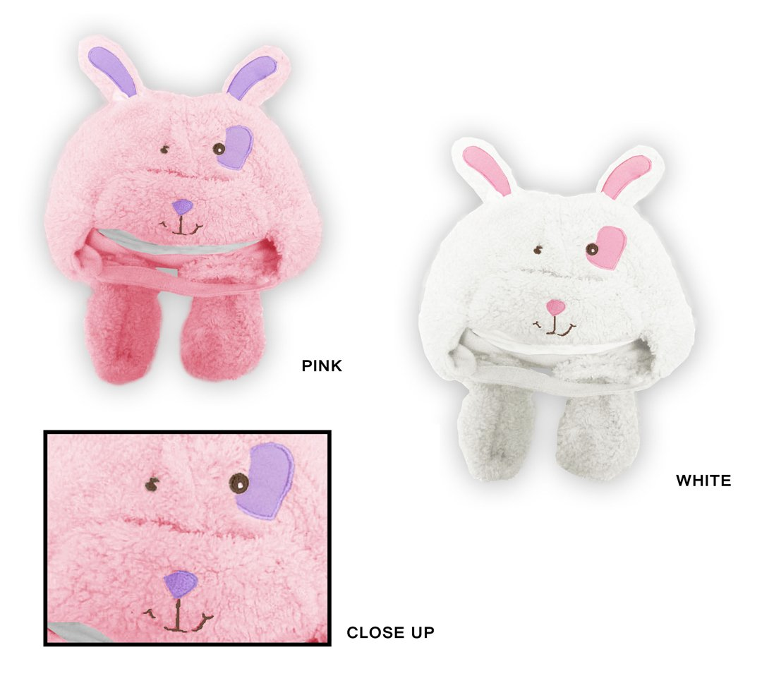 Wholesale Sock Deals 24 Pack Of WSD Baby Girl's Fleece Lined Fuzzy Hat & Mitten Sets - Bunny Rabbit Designs by Wholesale Sock Deals