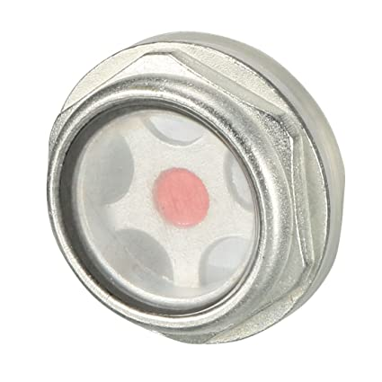 Sourcingmap - Indicador de nivel de aceite del visor de líquido rosca macho de 26 mm