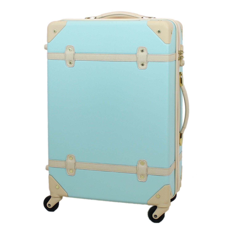 MOIERG(モアエルグ) キャリーバッグ YKK使用 軽量 キャリーケース スーツケース 3年保証 B015GKF5UI  ブルー M