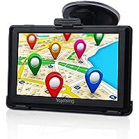 GPS Navi Navigation für Auto PKW 5 Zoll LKW Navigationsgerät mit Lebenslang Kostenlosem Kartenupdate Blitzerwarnung POI Sprachführung Fahrspurassistent 2018 Karten für 52 EU UK Länder-Yojetsing