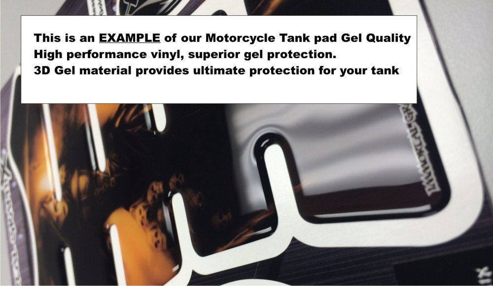 Motorcycle Frozen Devil Blue sportbike tank pad protector tankpad guard sticker