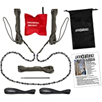 Pocketech The Arborist Kit By : 48 Inch Long High Limb Hand Chain Saw - Blades On Both Sides So It Doesn'T Matter How It Lands - Upgraded With 50% More Blades Cutting In Both Directions & On Both Sides