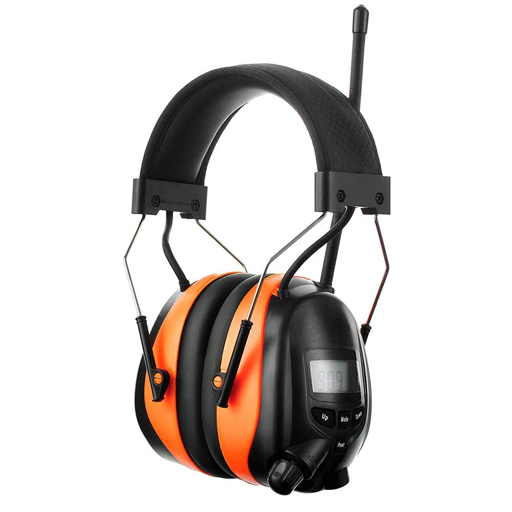 PROTEAR Bluetooth AM FM Radio Noise Reduction Safety Ear Muffs with Rechargeable Lithium Battery - Adjustable NRR 25dB Electronic Ear Hearing Protection lawn mower work headphones,with a Earmuff Clip by PROTEAR (Image #2)