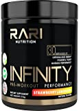 RARI Nutrition - INFINITY 100% Natural Pre Workout Powder for Energy, Focus, and Performance - No Creatine - No Artificial Flavors or Colors - Vegan Friendly - 30 Servings - Strawberry Lemonade