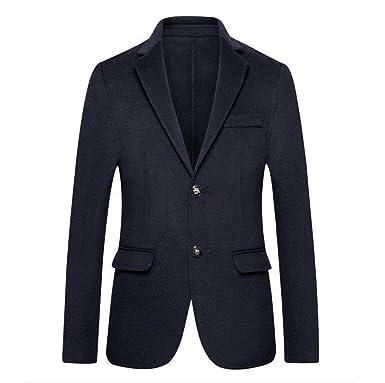 5ab3fb8f8f4d Veste de Costume Slim Fit Hommes (Couleur   Bleu