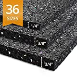 Ergocell Recycled Rubber Floor Mat – Shock Absorbent Gym Mat Flooring & Horse Stall Mat | Three Thicknesses, Multiple Sizes | 3/8'' - 2' x 1'