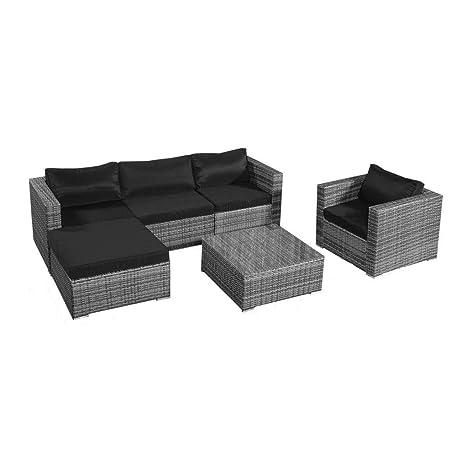 Amazon.com: giantex 6pc Patio sofá Conjunto de muebles de ...