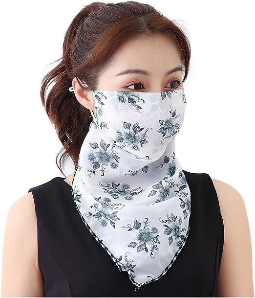 Jackruler Damen Mundschutz Halstuch Face Shield Multifunktionstuch Gesichtsmaske Sommer Uv Schutz Atmungsakti Chiffon Tuch 29 Auto