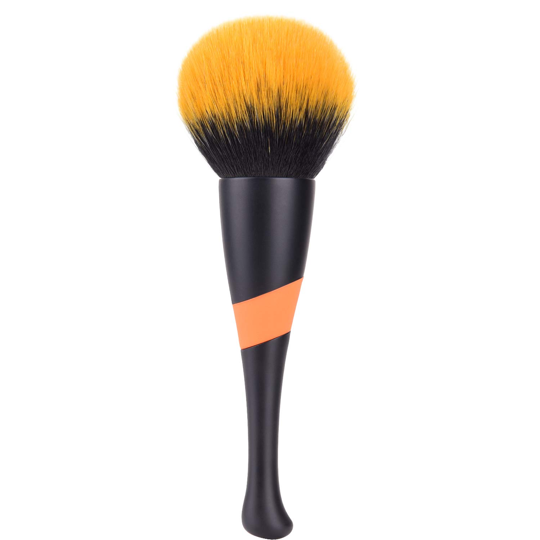 Super Large Mineral Powder Brush, Tailpa Soft Fluffy Foundation Brush, Kabuki Makeup Brush, Professional Powder Brush and Blush Brush for Daily Makeup (black)