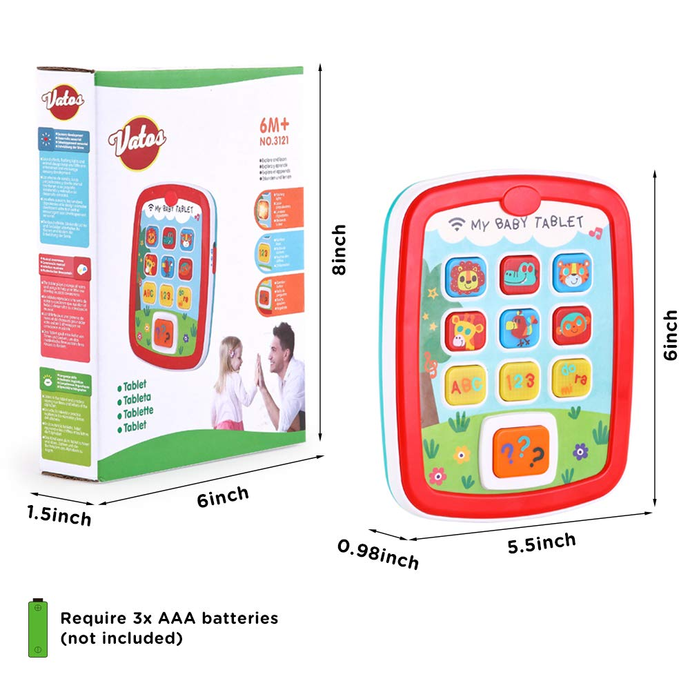 Infant Toys Baby Tablet Toys Learning Educational Activity Center for 6  12  18 Month up Boys and Girls with Music Light ABC Numbers Color Games Baby Toys for First Birthday by INSOON (Image #7)
