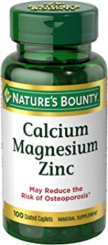 100-Count Nature's Bounty Calcium Magnesium & Zinc