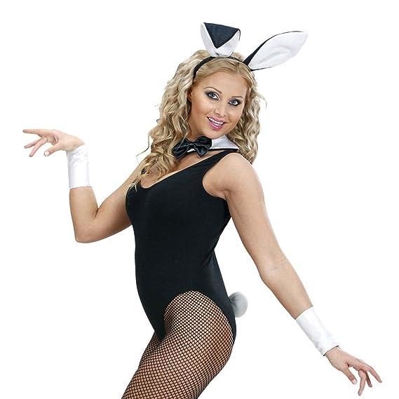 NET TOYS Bunny Set Hasenkostüm 4 TLG. Hase Ohren Halsband Schwanz Manschetten Sexy Hasen Kostüm Playboy Kostümset Damen Sexy