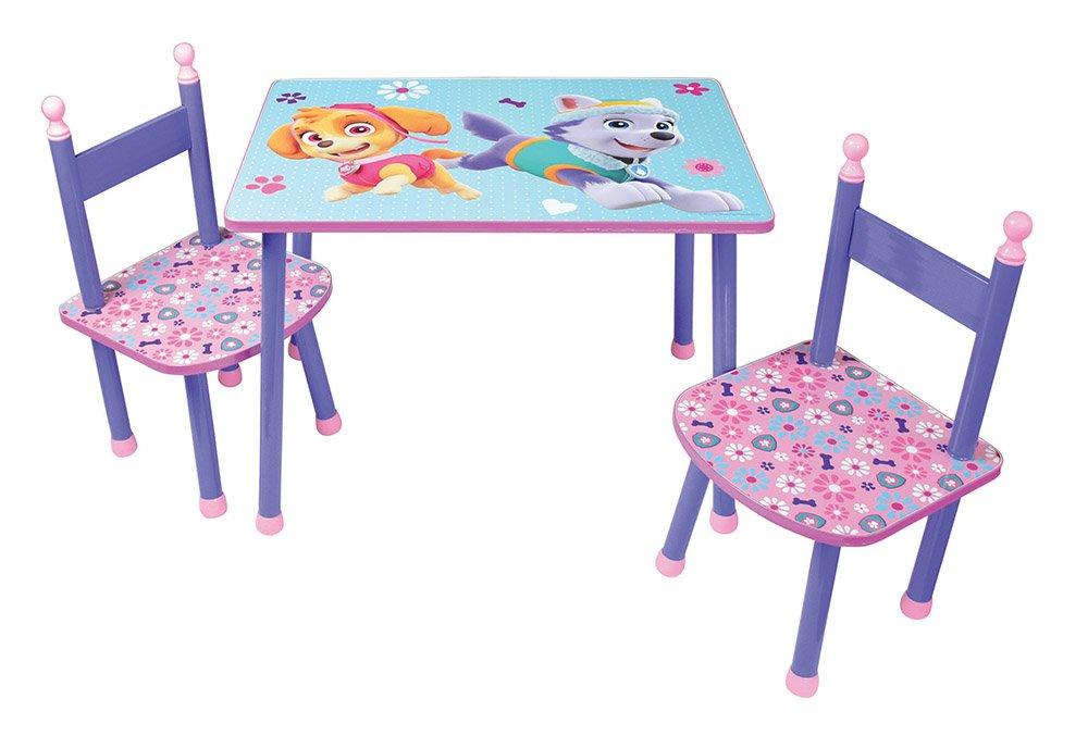 FUN HOUSE Pat' Patrouille ragazza tavolo con 2sedie per bambini, MDF/metallo, 60x 40x 44cm CIJEP 712744