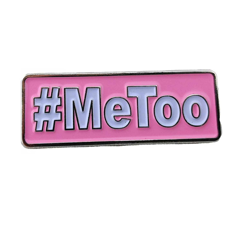 "#MeToo 1.25"" Pink Enamel Support Pin"
