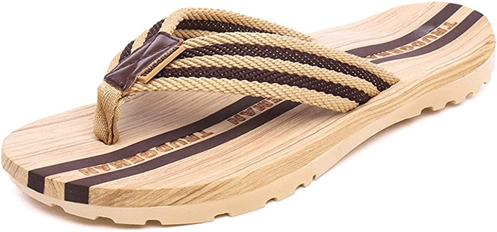 Mens Womens Flip Flops Beach Pool Slippers Summer Casual Thong Sandals Outdoor Shower Bath Shoes Brown