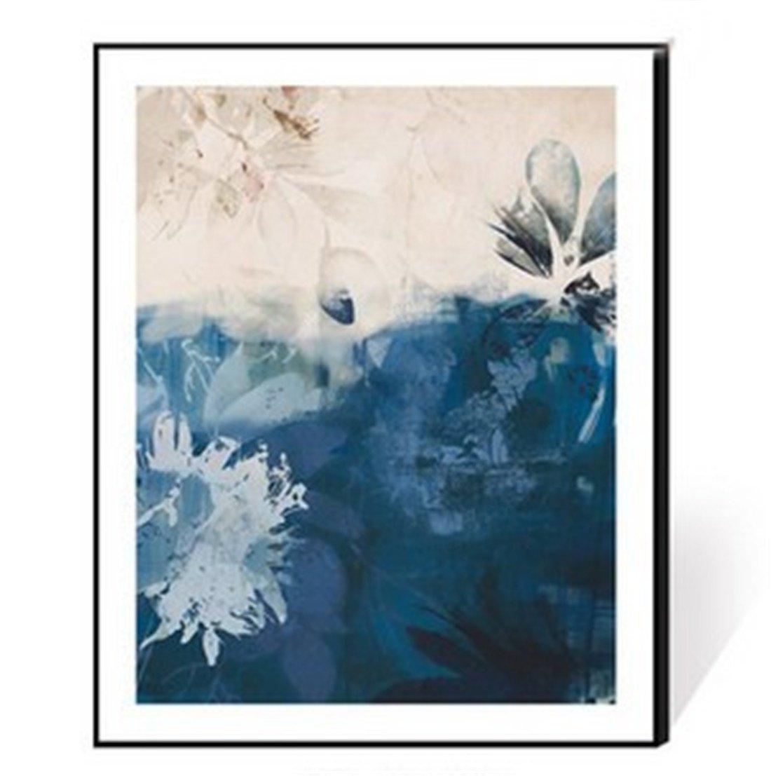 BENJUNEstilo Minimalista Moderno de la Sala de Estar de Que Pinta la Pintura Minimalista Moderna del Marco de Aluminio Que Pinta la Pintura Mural del Tono Azul Abstracto (los 35  45cm), a