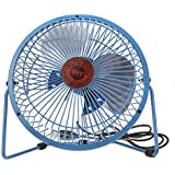 Starsource Adjustable Four Fan Blade 6 Inch USB Mini Desktop Fan With ON/OFF Switch ( Blue )