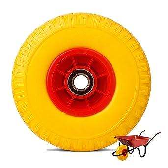Everbest4u 260 mm carretilla ruedas,3.00-4 neumático de carretilla de mano, rueda