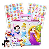 Disney Princess Lunch Box Activity Set -- Disney Princess Tin Box with Handle, 48 Pc Puzzle and Cinderella Stickers (Lunch Kit)