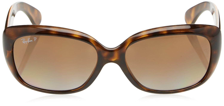 ddd42f52d58 Amazon.com  Ray-Ban Women s Jackie Ohh Polarized Rectangular Sunglasses  LIGHT HAVANA 58 mm  Clothing