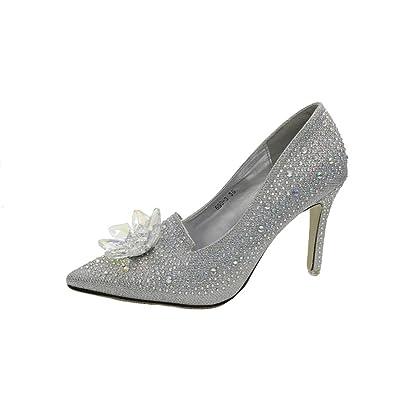 5447205e1e2 Lolittas Summer Diamante Stiletto Sandals Shoes for Ladies Womens ...